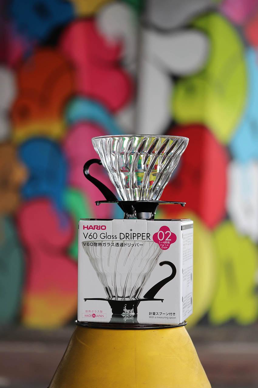 V60, Hario glass dripper