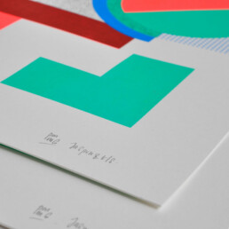 Detail silkscreen PrintmakingMoneygang