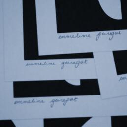 Detail silkscreen Emmeline Geiregat