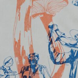 Detail risograph Bertem Vanderbruggen