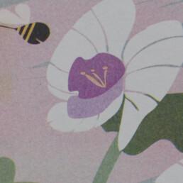 Detail risograph orquidea Kay