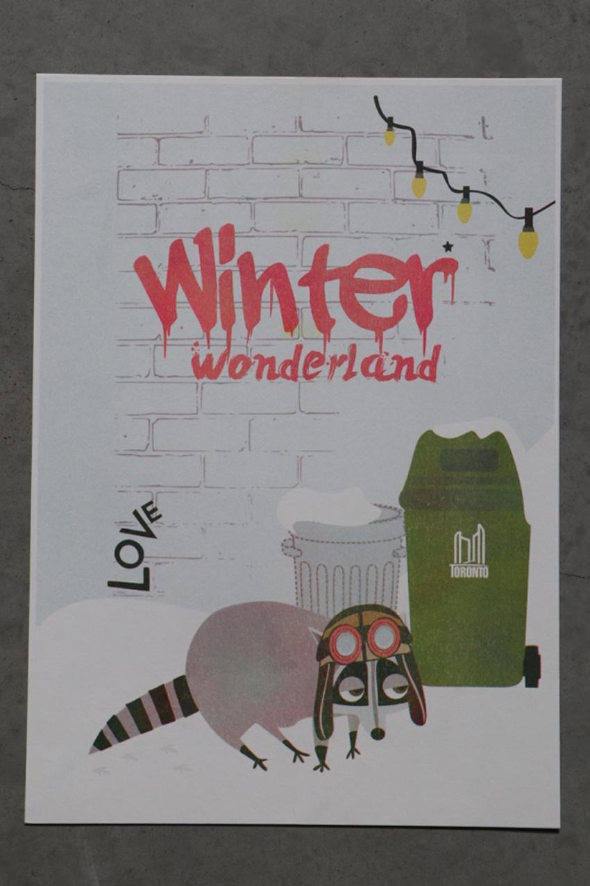 Risograph winter wonderland Kay
